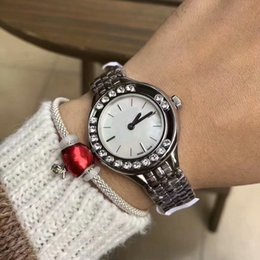 jewelry rolls Coupons - A piece lots top brand women watch rolling stones luxury Lady Wristwatch free box Fashion Shine Diamond Casual Watches Jewelry buckle
