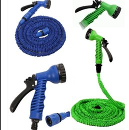 Wholesale Expandable Green Hose - Expandable Flexible Water Garden Hose Water Spray Nozzle Sprayers 25FT 50FT 75FT 100FT Garden Water Hose Spray Nozzle Garden Pipe KKA3881