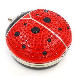 fresa de diamante Rebajas Nuevos diamantes Strawberry Ladybird acrílico bolsos de noche moda personalidad cena banquete bandolera mini crossbody cosméticos bolsa