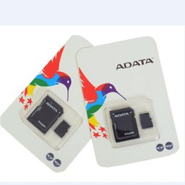 Wholesale 2gb Cards - ADATA 100% Real Genuine Full 2GB 4GB 8GB 16GB 32GB 64GB 128GB Micro SD TF MicroSD SDXC Memory Card for Android Phones bluetooth speakers