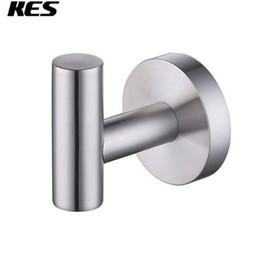 Крючки с черным покрытием онлайн-Kes A2164/-2/-BK ванная комната туалет Настенное крепление одного пальто и халат крюк, полированный / матовый / черный SUS304 нержавеющая сталь