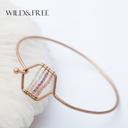 Wholesale Handcraft Beads - whole saleNew 2017 Beads Cuff Bangle Vintage Simple Handcraft Original Design Colorful Bead Fashion Bangles&Bracelets For Women Girl Gifts