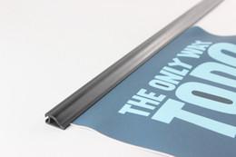 Wholesale Label Frame - 60cm POP plastic poster hanger sign clip strip Poster Hanger Rails snap frame banner label photo clips strip