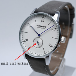 Wholesale Best Simple - Elegant best quality fashion brand AAA men quartz leather watch wholesale simple samll three needle men dress watch hot sale male clock gift
