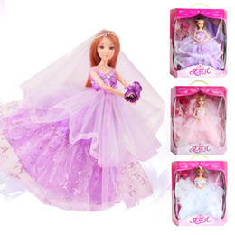 Wholesale High End Dolls - Wholesale- Children's Toys Wholesale 12 Joints Really Eye Pyrene Children Doll High End Dress Gift Box