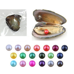 Wholesale Flag Packs - 2018 New 6-7mm DIY Round Variety Good Of Color Freshwater Akoya Pearl Oysters Individually Vacuum Pack Fashion Trend Gift Surprise