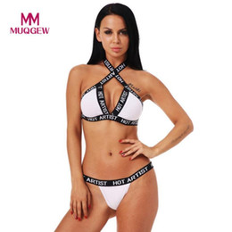 9528514709 MUQGEW newest style Set Women Sexy Shiner Paillette Bandage Corset Push Up  Underwear Bra Briefs Back Closure Wire Free Unlined