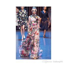 Vestidos estampados de flores online-Burdeos impresión sirena apliques fuera del hombro vestido de noche 2017 Vestido De Festa con cuentas lentejuelas largo vestido de bola BA3809