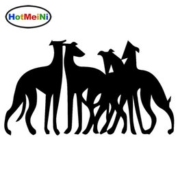 Wholesale window sticker dog - Wholesale United Fight Team Greyhounds Dog Pets Jdm Vinyl Decals Car Stickers Glass Stickers Scratches Stickers Bumper Accessories