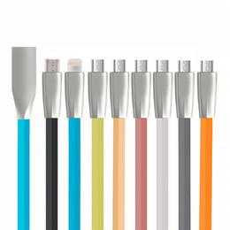 Wholesale Pink I5 - TPE mcro USB Type C Cable For Xiaomi Mi5 Zinc Alloy Type-C Fast Charging Data Cable for Samsung Galaxy S8 s7 S6 S4 I5 I6 I7 I8 IX