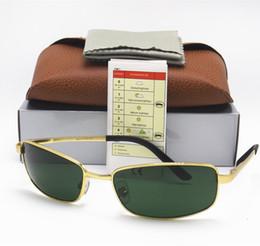 Wholesale Best Brand Sunglasses Men - 1PCS Best Selling Fashion Rectangle 3194 Brand Designer Sunglasses For Mens Womens Eyewear Sun Glasses Gold Metal Glass Lenses