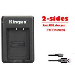 Batterie np online-caricabatterie per fotocamere NP-BX1 NP BX1 BY1 Caricabatterie mini USB doppia fotocamera a 2 lati per HDR-AS200v X1000, HDR-1,1VR, AZ1VB, AZ1VW. batteria