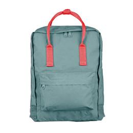 5e489ab40053 girls satchels UK - Wholesale- 2018 New Backpack School Bag Girls double  shoulder Canvas Lovers