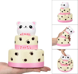 Wholesale Curing Silicone - Colossal Bear Cake Squishy Slow Rising Cream Squeeze Scented Cure Toy Gifts Relieves Stress Anxiety DDA126