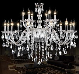 Wholesale Vintage Lustres - Noble Luxurious Export K9 Clear Crystal Chandelier white chandelier vintage crystal chandelier iron Optional Lustres De Cristal Chandeliers
