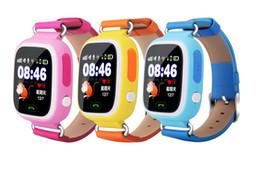 Gps localizar online-Smartwatches Q90 Smart Watch de los niños Bluetooth para niños con GPS WIFI LBS localiza Anti-Lost para IOS y Android Smartphone con caja al por menor