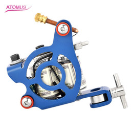 Wholesale Cast Iron Tattoo Machine Frames - New 10 Wrap Coil Liner Tattoo Machine Frame Cast Iron Professional Steel Tattoo Machine Gun for Permanent Body&Art Supply