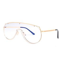 cd3594cf12bf9 Mens vintage eyeglasses frames large gold metal frame unisex one piece lens  windproof women frame glasses big size