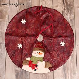 skirting decorazione Sconti Xmas Decoration Grembiuli 60cm Rosso / Verde Gonna Albero di Natale Tappeto Capodanno Decorazioni di Natale Decorazione albero gonna ornamenti