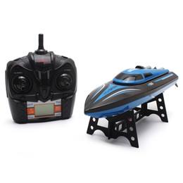 bateaux électriques pour les enfants Promotion SKytech RC Bateau 4CH Bateau de course à grande vitesse 30KM / H Télécommande électrique Mini Airship 2.4GHz Bateaux avec écran LCD Kids Toy + NB