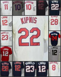 Wholesale Indian Stitch - 2018 Baseball Jerseys #8 Lonnie Chisenhall Cleveland Indians Jersey 10 Edwin Encarnacion 11 Jose Ramirez Mens Stitched Throwback