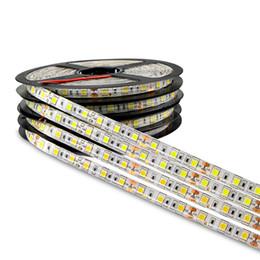 iluminação de fita adesiva led de qualidade Desconto DC 12V 5M 300LED IP65 IP20 não impermeável 5050 SMD RGB LED Strip light 3 linhas em 1 lâmpada de alta qualidade Tape para iluminação doméstica
