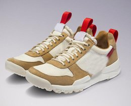 Wholesale natural flat shoes - 2018 Release Tom Sachs x Craft Mars Yard 2.0 TS Joint Limited Sneaker Original Quality Natural Sport Red Maple Running Shoes