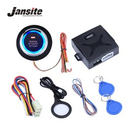 push start button switch Promo Codes - Jansite Car Alarm Engine Push Button Start Stop Button RFID Lock Ignition Switch Keyless Entry System Starter Anti-theft System