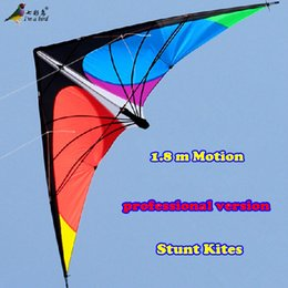 Wholesale kite led - Wholesale-Free Shipping NEW LISTING 1.8m Power Professional Dual Line Stunt Kite With Handle And Line Good Flying Factory Outlet