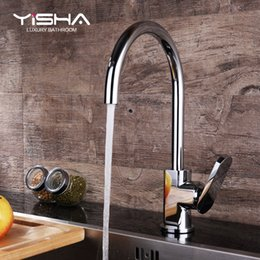 Wholesale Ceramic Art Basin - Art Sally full copper kitchen sink faucet Xiancai basins cold heat can rotate the single-hole faucet