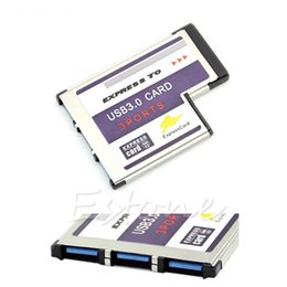Wholesale Port Chip - 54mm Express Card 3 Port USB 3.0 Adapter Expresscard for Laptop FL1100 Chip