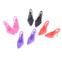 Tacco alto scarpe da sera partito usura per per BJD vestiti per bambole accessori abito regalo per bambini 1 paio 4 colori da