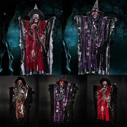 Canada Décoration de fête d'Halloween favorise Accessoires Accessoires suspendus fantôme avec des accessoires effrayants Voix Contrôle de la voix Offre