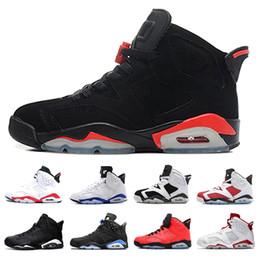 the best attitude 1c0fd 2c9a9 nike air jordan retro 6 shoes da pallacanestro da uomo 6 6s Scarpe da  ginnastica infrarossi Tinker Sneaker UNC Blu Nero Gatto Bianco Rosso  Carmine Marrone ...