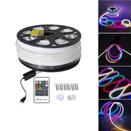 Wholesale Wholesale Neon Flex Rope Light - LED Strip RGB Neon Flex Rope Light Waterproof IP68 Mini LED Tape 220V 110V TV Dimmer Flexible Ribbon For Outdoor Lighting