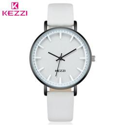 Wholesale watchs women - 2018 KEZZI Luxury Brand Women Quartz Watch Fashion Casual Wristwatch Leather Ladies Watch Classic Roman Scale Waterproof Watchs