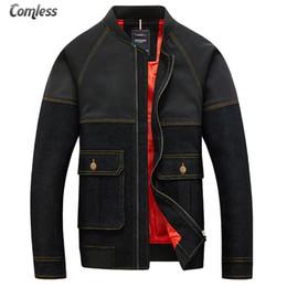 Wholesale Jaqueta Jeans Masculina - 2017 Spring Autumn New Mens Jackets Brand Slim Fit Denim Patchwork Pocket Designs Jeans Jacket Men Coats M-5XL Jaqueta Masculina
