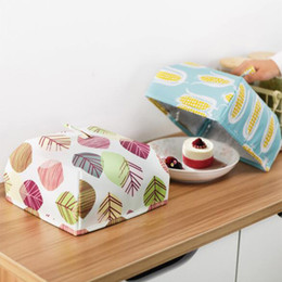 Wholesale table food cover - Foldable Food Covers Keep Warm Aluminum Foil Dishes Dust Cover Insulation Utilidades Kitchen Table Accessories Tools Gadgets