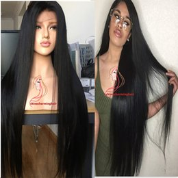 """Wholesale Human Full Lace Wigs Sale - Top Sale 8A quality long human hair wig 130 density malaysian virgin hair wig silky straight lace fraight 30"""" Inch Full Lace Wig"""