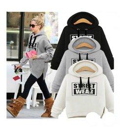 damas sudaderas con capucha Rebajas S-XXL letras cálidas suéter de lana señora suéter con cremallera sudadera con capucha suéter niñas moda strteet desgaste abrigo