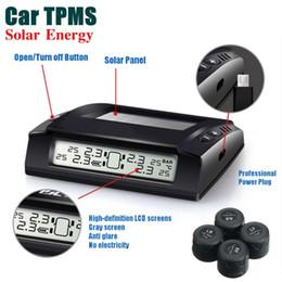 2019 сигнал тревоги x Солнечная беспроводная система контроля давления в шинах автомобиля TPMS + 4 x внешние датчики цифровой ЖК-дисплей сигнализации давления в шинах дешево сигнал тревоги x