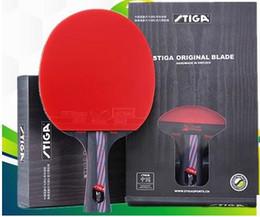 Wholesale Paddle Blades - STIGA 9.8 Hybrid wood Table Tennis Racket Double rubber Pingpong Paddle Blade tenis de mesa 81006