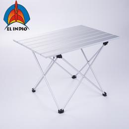 2019 сумка для кемпинга bbq Big size Aluminum Folding Collapsible Camping Table Roll up with Carrying Bag Outdoor Picnic, BBQ, Beach, Hiking, Travel дешево сумка для кемпинга bbq
