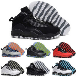 Wholesale Ups Nyc - [With Box] Cheap New Air 10 Paris NYC CHI Rio LA Hornets City Pack Vivid Pink 10s Mens Basketball Shoes Sneakers X Sports Shoes