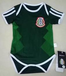 Wholesale 18 R - New 2018 World Cup Mexico baby 6-18 month soccer jerseys CHICHARITO R MARQUEZ G DOS SANTOS O PERALTA HERRERA footbalL shirt top thailand