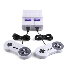 Wholesale Drop Shipping Cables - Drop Shipping Super Popular Super Mini SFC Game Handheld Console Games Consoles With Double Controllers AV Cable US Plug Packing Box