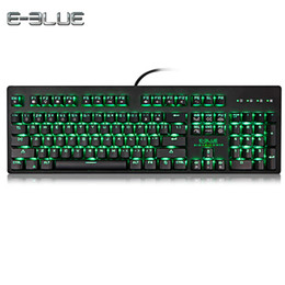 Wholesale mechanical pc keyboard - E - 3LUE K757 Gaming Mechanical Keyboard Gamer Anti-Ghosting With Backlit Brilliant LED Backlight 104 Keys For PC Loptop Games