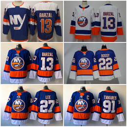 6de600f4c2a 2019 New York Islanders Alternate Third Blue 13 Mathew Barzal Jersey 27  Anders Lee Denis Potvin Hockey White Stitched Men