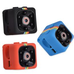 2019 cúpula câmera de segurança metal SQ11 Mini Câmera HD 1080 P Night Vision Camcorder DVR Carro Gravador De Vídeo Infravermelho Esporte Câmera Digital Suporte TF Cartão de 2019