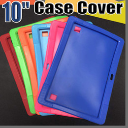 "for tablet mid Coupons - Cheapest 50pcs Anti Dust Kids Child Soft Silicone Rubber Gel Case Cover For 10"" 10.1 Inch A83T A33 A31S Android Tablet pc MID Free DHL"